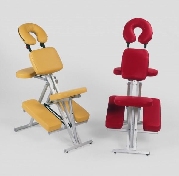 Massagestuhl TANDEM | Alu-Gestell | viele Einstellmöglichkeiten | in vielen Farben produzierbar | Made in Germany