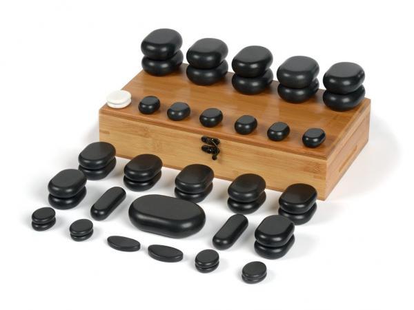Hot Stone Massagestein -Set 45-teilig professional