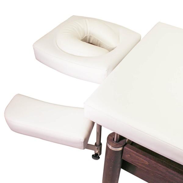 Massageliege Ambra Motion mit Kopfstütze und schwenkbaren und absenkbaren Armlehnen