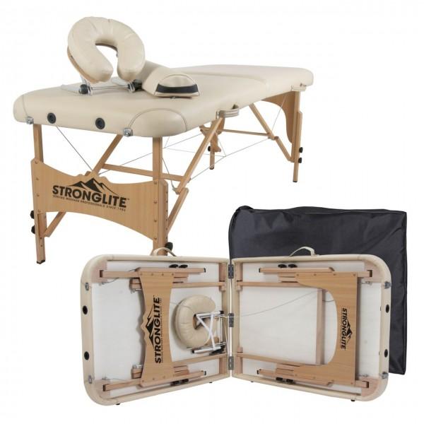 Mobile Massageliege OLYMPIA mit umfangreicher Ausstattung | Farbe beige