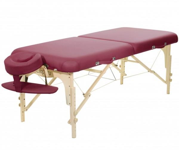 Klappbare Massageliege ClapTzu Classic Pro Set | burgund