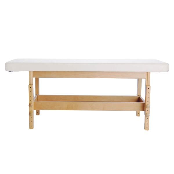 Holz-Massageliege aus Holz | handgefertigt | Untergestell aus Buche lackiert | Stabilo Serie | PU-blanco