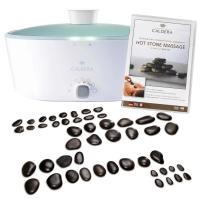 Caldera Hot Stone Massage Profi-Komplett mit großem Steinset und praktischen Zubehör