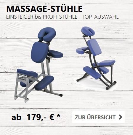 Mobile Massagestühle kauft man bei MASSAGE-PLANET - GROSSE AUSWAHL