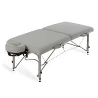 Earthite mobile Massageliege LUNA mit Alu - Rahmen und Natursoft Polsterung | sterling