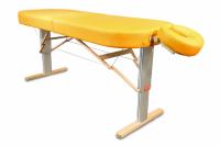 Mobile elektrische Lomi-Massageliege LINEA Hawaii (hier im Bild mit optionaler Kopfstütze ERGO)  Polsterfarbe: sun