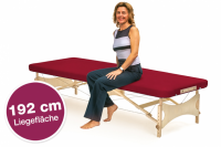 Mobile Massageliege STANDARD Pro Feldenkrais, Bezugsfarbe: PU-vino