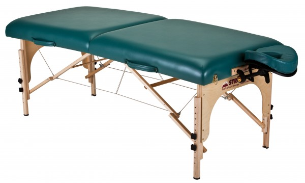 Klappbare Massageliege - Stronglite Classic Deluxe Massageliegen Set - teal