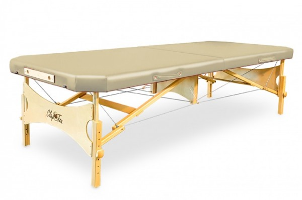 Mobile Massageliege STANDARD Pro Feldenkrais EDGE, abgeschrägte Ecken, Bezugsfarbe: beige