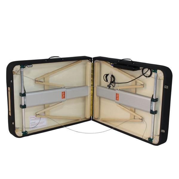 LINEA SPORT XL - mobiler Massagetisch | elektrisch höhenverstellbar | aufgeklappt