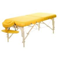 Mobile Massageliege ClapTzu Classic Pro Set  in der Polsterfarbe SIENA