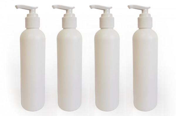Dosierflaschen für Massageöl mit Pumpsystem - 4er Packung