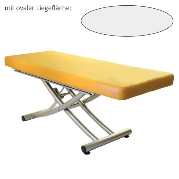 Lomi Massageliege MATERA 1 Segment ovale Liegefläche | PU- sol (gelb)
