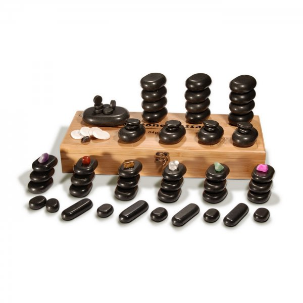 Hot Stone Set - 70 Massagesteine | Luxus-Set
