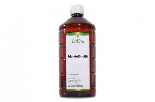 Massageöl - Mandelöl süß, perfekte Gleitfähigkeit, 1 Liter oder 5 Liter