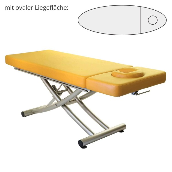 Lomi Massageliege MATERA mit Kopfteil   PU- sol (gelb)