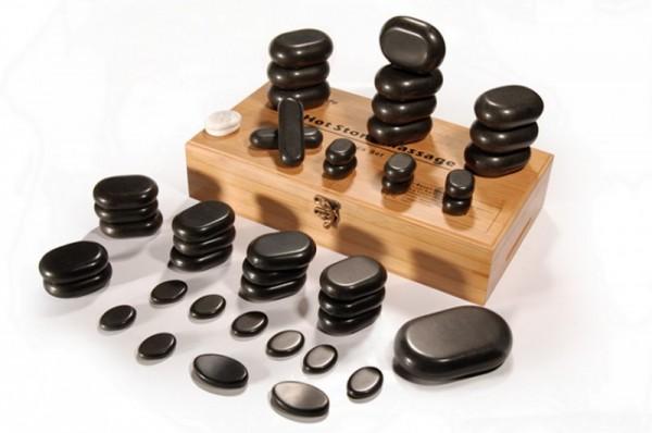 Hot Stone Set 45-teilig mit praktischer Aufbewahrungsbox