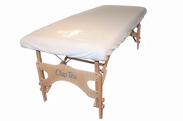 Flanell-Überzug für Massageliege - mit Gesichtsausschnitt