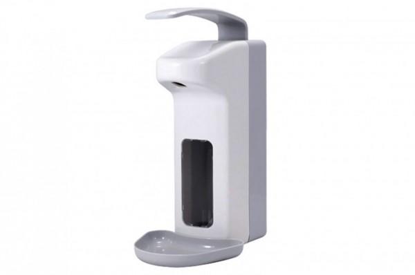 Wandspender, Seifen- u.  Desinfektionsmittelspender mit Bedienhebel