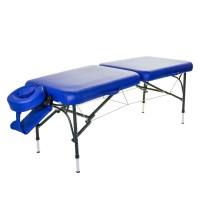 VOYAGE Set - mobile Alu Massageliege klappbar blau