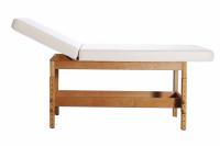 Stationäre Massageliege STABILO mit hochstellbarem Rückenteil