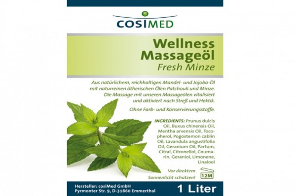 COSIMED Massageöl Wellness Fresh-Minze - Details