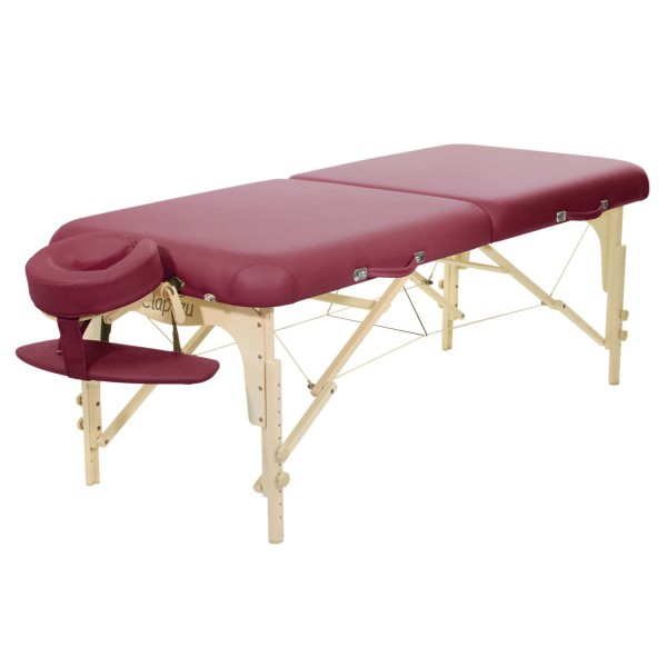 Mobile Massageliege ClapTzu Classic Pro Set -BURGUND