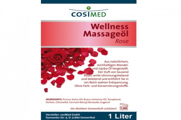 COSIMED Massageöl Wellness ROSE - Details