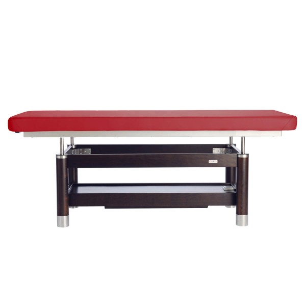 Luxus elektrische Massageliege AMBRA Motion | Untergestell - Palisander lackiert | viele Optionen | Bezugsfarbe PU- vino