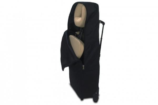 Trolleytasche Massagestuhl Ultralight von ClapTzu mit Rollen - schwarz
