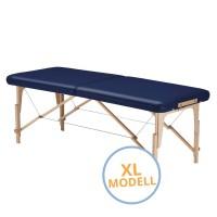 Mobile Massageliege STANDARD Pro XL 202 cm mit REIKI - Blende - Farbe | PU oceano (dunkelblau)