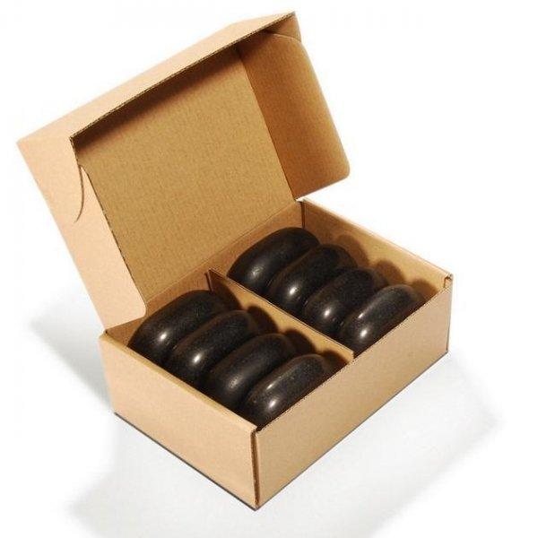 Ovaler Basaltsein Größe L | 8 Stück | Massagesteine