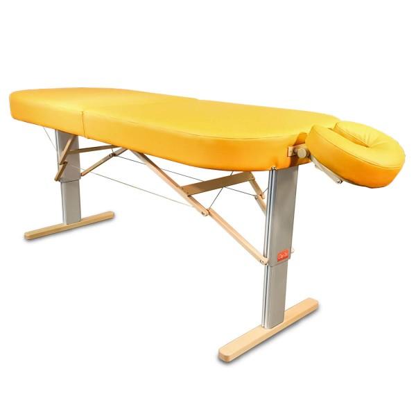 Mobile Lomi-Massageliege LINEA Hawaii | elektrisch höhenverstellbar | breite komfortable ovale Liegefläche (Kopfstütze ERGO NICHT im Lieferumfang enthalten (optionales Zubehör)  Polsterfarbe: sol