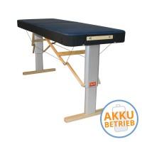LINEA SPORT mit AKKU - mobile Massageliege | elektrisch | maximal unabhängig | robust | Kantenschutz