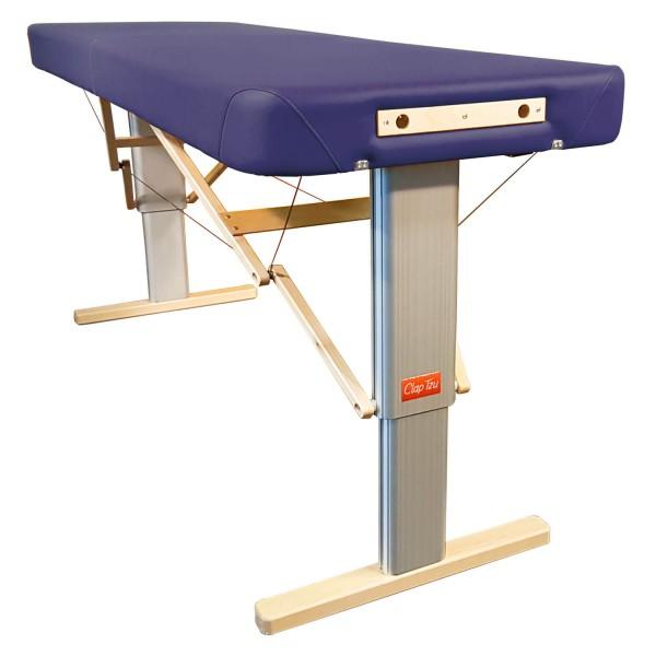 Mobile Massageliege elektrisch höhenverstellbar LINEA Physio | Physiotherapie Polsterung, Bezugsfarbe - marineblau