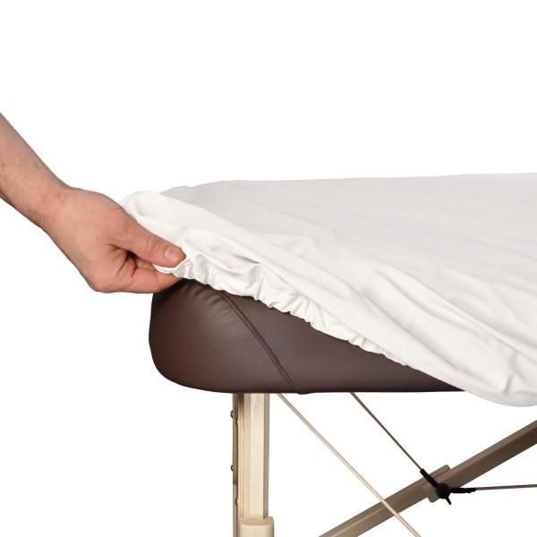 Bezug ölresistent, ideal bei ölreichen Anwendungen, Schutz die Massageliege vor Öl (Lomi Lomi / Ayurveda), Bezugsfarbe: blanco