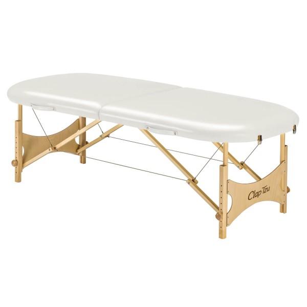 Mobile LOMI Massageliege Standard Pro Hawaii - ovale Liegefläche - Farbe PU-blanco