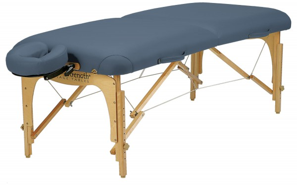 Mobile Massageliege E2 - 2. Gen.| by Inner Strength | im Set | Farbe agate (blau)
