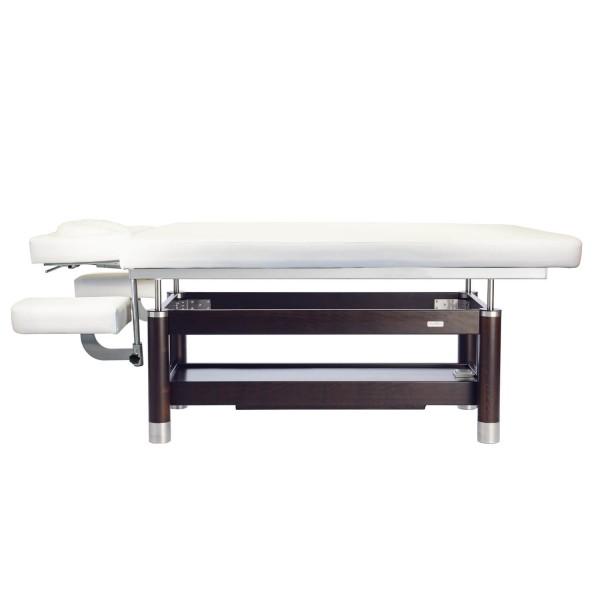 Elektrische Luxus Massageliege AMBRA Motion 4 Segmente | Untergestell - Palisander gebeizt