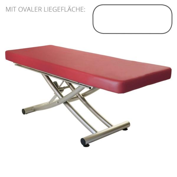 Lomi Massageliege MATERA 1 Segment ovale Liegefläche | PU- rot