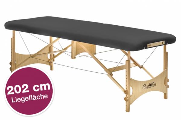 Extra verstärkte mobile Massageliege Standard Pro Atlas XL, 202 cm Länge, belastbar bis 340 kg dynamisches Gewicht, Farbe PISA-graphit