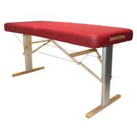 Mobiler Massagetisch LINEA Wellness mit elektrischer Höhenverstellung, breite Liegefläche, komfortable Luxuspolsterung, Farbe PU-vino (rot)