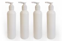 Dosierflaschen für Massageöl mit Pumpsstem - 4er Packung